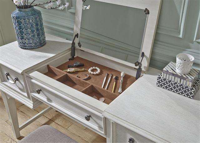 Liberty Furniture Bayside Antique White Youth Bedroom Vanity Desk-249-BR35