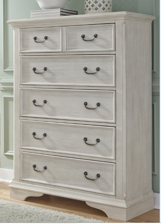 Liberty Furniture Bayside Antique White 5 Drawer Chest-249-BR41