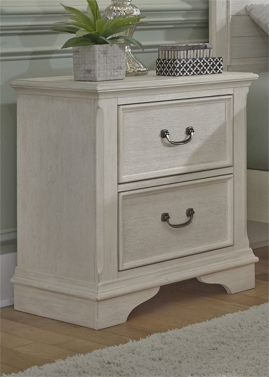 Liberty Furniture Bayside Antique White Youth Bedroom 2 Drawer Nightstand-249-BR60