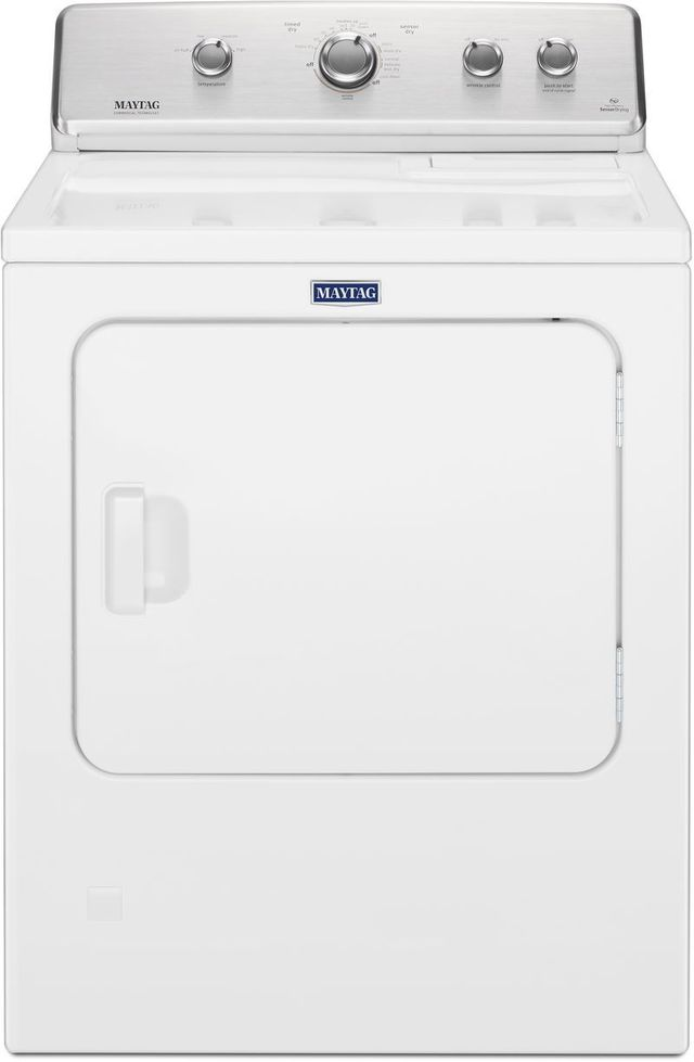 Maytag® 7.0 Cu. Ft. White Front Load Electric Dyer-MEDC465HW