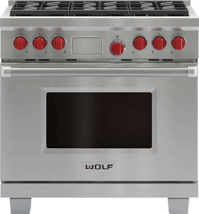 """Wolf® 36"""" Pro Style Dual Fuel Range-Stainless Steel-DF366"""