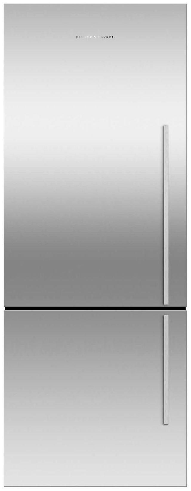 Fisher & Paykel 13.4 Cu. Ft. EZKleen Stainless Steel Counter Depth Bottom Freezer Refrigerator-RF135BDLX4 N