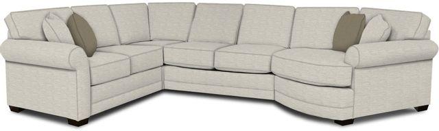 England Furniture Co. Brantley 4 Piece Culpepper Snow/Alvarado Mineral/Duomo Jewel Sectional-5630-28-22-43-95+8613+8613+8601
