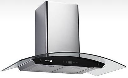 """Fagor Crystal 36"""" Wall Mounted Vent Hood-Stainless Steel and Glass-60CFG-36B"""