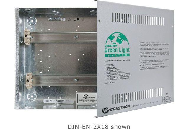 Crestron® Enclosure for DIN Rail Devices-DIN-EN-2X18
