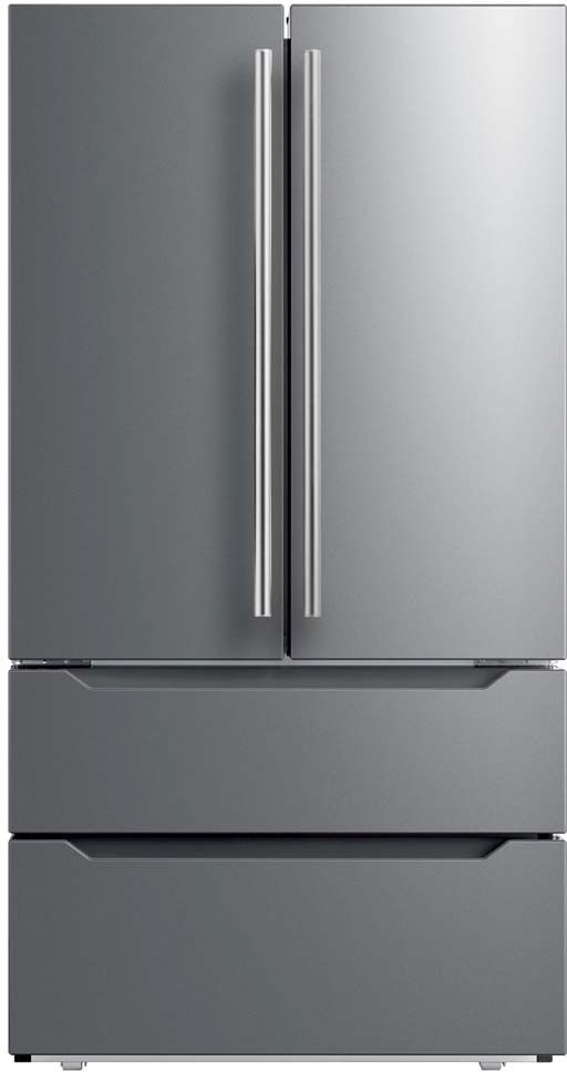 Midea® 22.5 Cu. Ft. Stainless Steel Counter Depth French Door Refrigerator-MRQ23B4AST