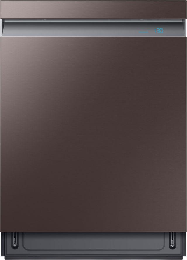 """Samsung 24"""" Fingerprint Resistant Tuscan Stainless Steel Built In Dishwasher-DW80R9950UT"""