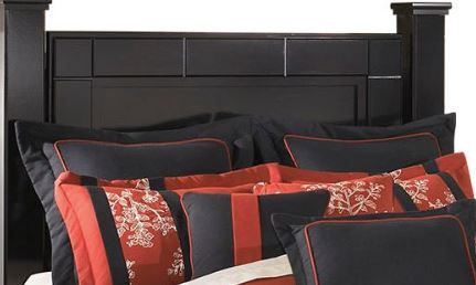 Signature Design by Ashley® Shay Almost Black Queen/King Poster Headboard Posts-B271-61