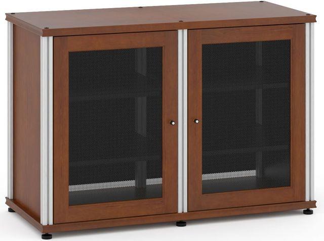 Salamander Designs® Synergy Model 323 AV Cabinet-Dark Cherry/Aluminum-SB323C/A