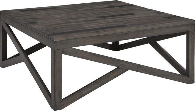 Haroflyn Gray Square Coffee Table-T329-8