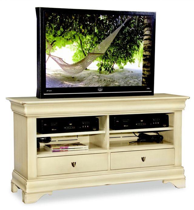 Durham Furniture Solid Accents Antique Cream Transitional Plasma Console-900-290C