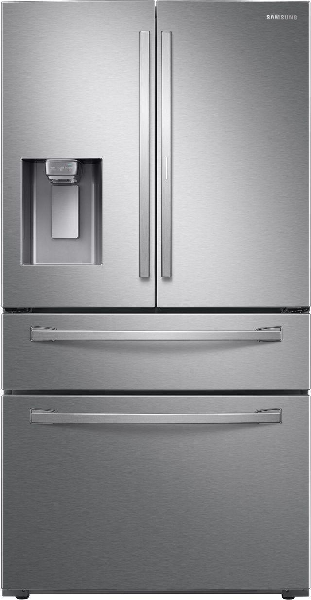 Samsung 22.4 Cu. Ft. Fingerprint Resistant Stainless Steel Counter Depth French Door Refrigerator-RF22R7351SR