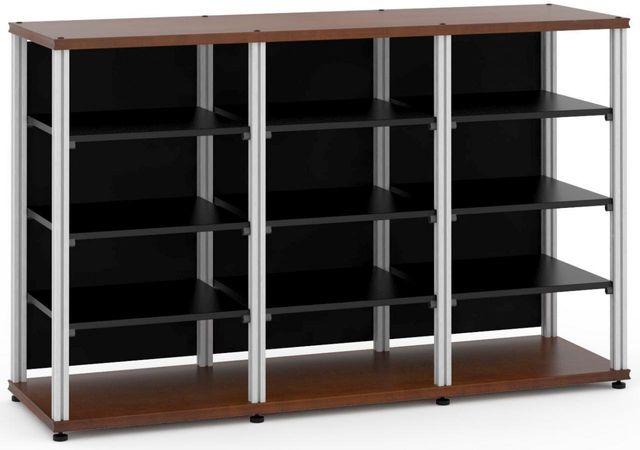 Salamander Designs® Synergy Triple 40 AV Cabinet-Dark Cherry/Aluminum-SL40C/A
