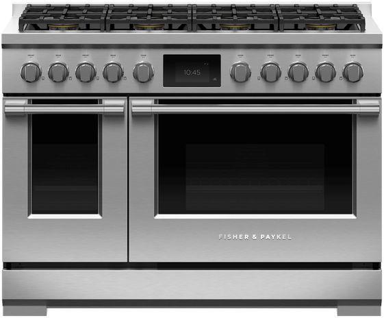 Cuisinière biénergie style Pro Fisher Paykel® de 6,9 pi³ de 48 po - Acier inoxydable-RDV3-488-N