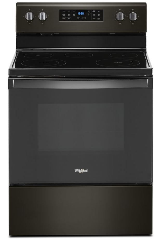 """Whirlpool® 30"""" Black Stainless Free Standing Electric Range-WFE535S0JV"""