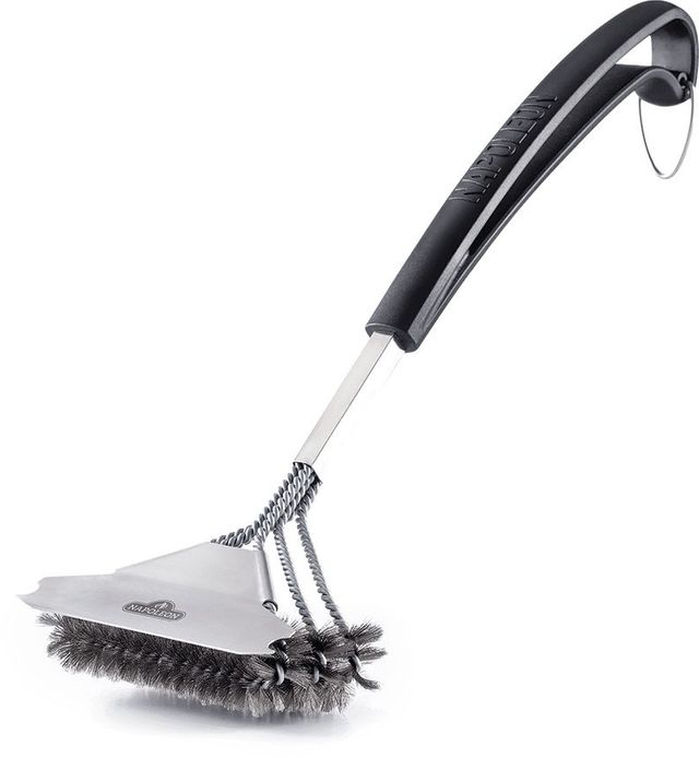 Napoleon Triple-Row Grill Brush with Stainless Steel Bristles-62057