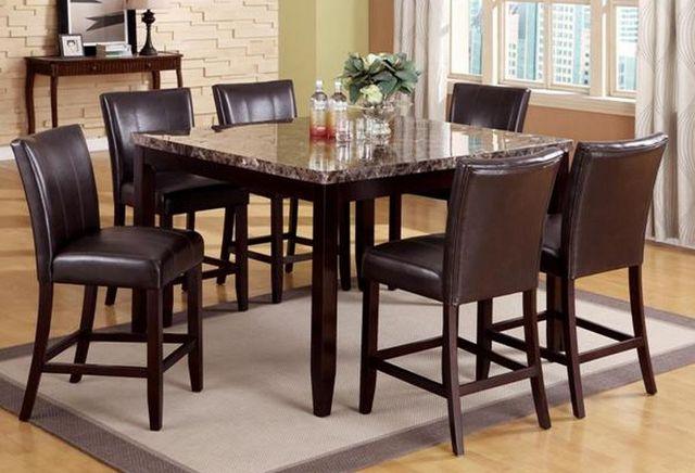 Crown Mark Ferrara Counter Height Table & Chairs Set-2721