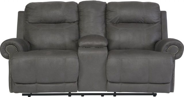 Signature Design by Ashley® Austere Gray Double Reclining Loveseat-3840194