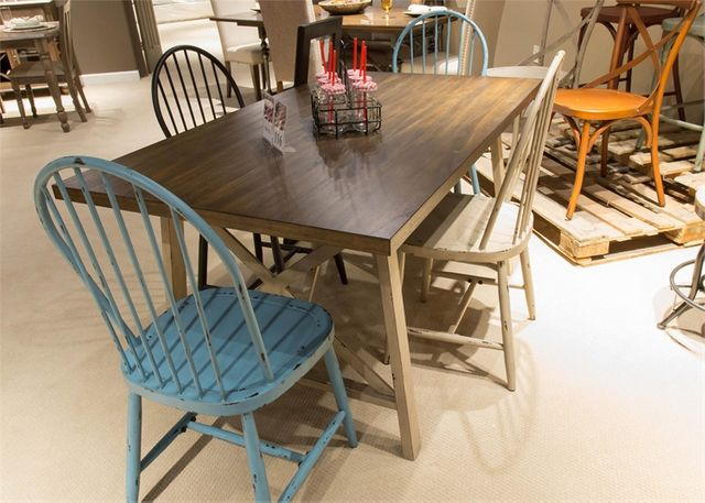 Liberty Vintage Two-tone Dining Table-279-T3660