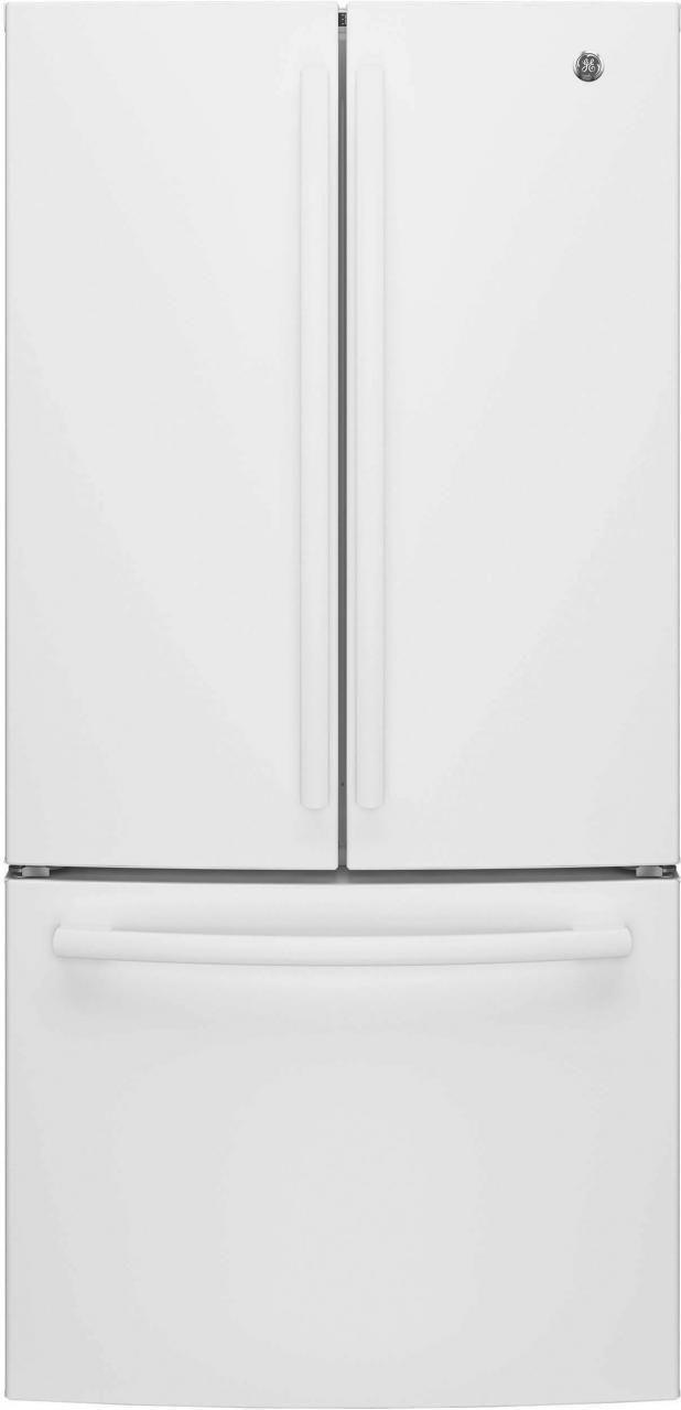 GE® Series 24.8 Cu. Ft. French Door Refrigerator-White-GNE25JGKWW