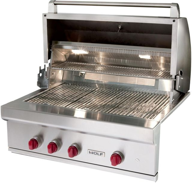 """Wolf® 42"""" Stainless Steel Built In Gas Grill-OG42-LP"""