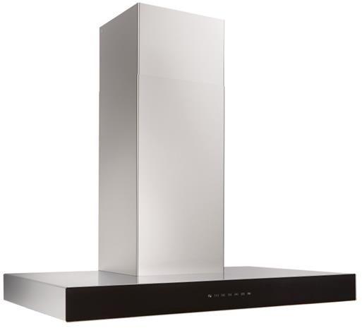 "Best® Ispira 36"" Stainless Steel Black Glass Chimney Range Hood-WCB3I36SBB"