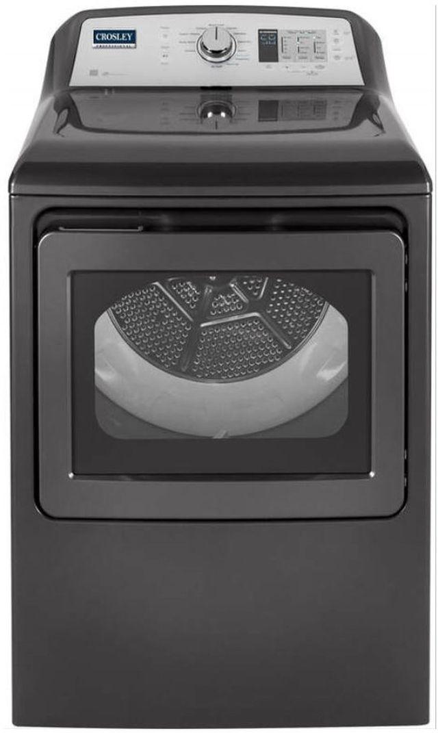 Crosley Professional® 7.4 Cu. Ft. Diamond Gray Electric Dryer-YTD74E2PNDG