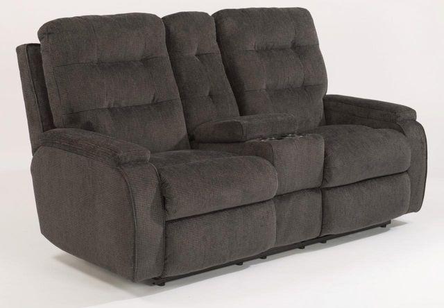 Flexsteel® Kerrie Fabric Power Reclining Console Loveseat-2806-601M