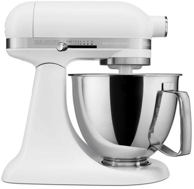 KitchenAid® Artisan® Mini Matte White 3.5 Quart Stand Mixer-KSM3316XFW