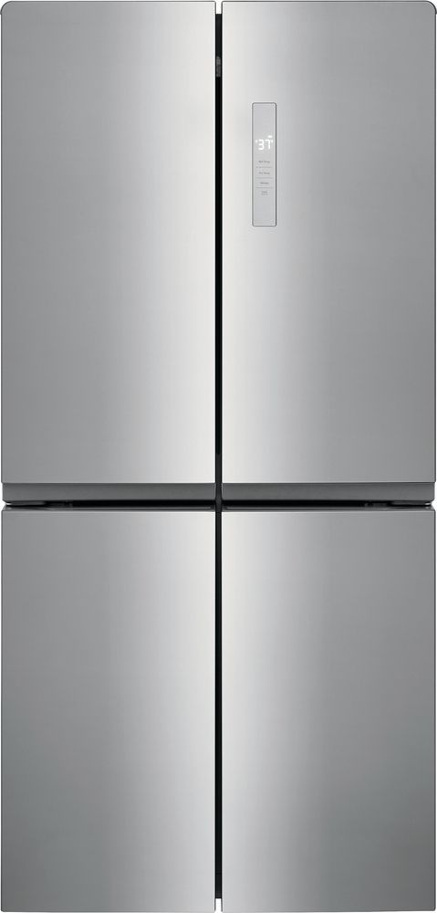 Frigidaire® 17.4 Cu. Ft. Brushed Steel Counter-Depth French Door Refrigerator-FRQG1721AV
