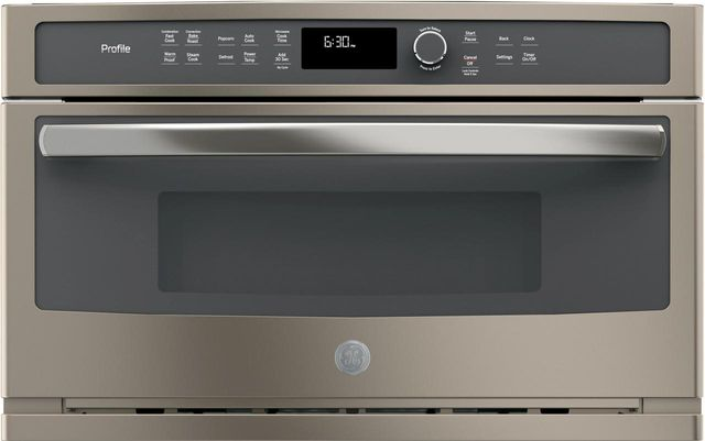 GE Profile™ 1.7 Cu. Ft. Slate Built In Microwave/Convection Oven-PWB7030ELES
