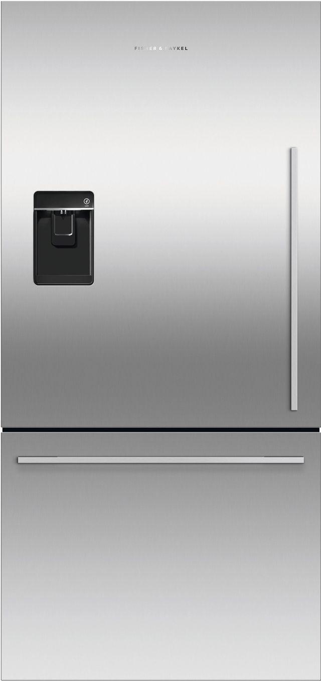 Réfrigérateur à congélateur inférieur à profondeur de comptoir de 32 po Fisher Paykel® de 17,1 pi³ - Acier inoxydable-RF170WDLUX5 N