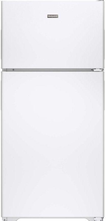 Hotpoint® 14.58 Cu. Ft. White Top Freezer Refrigerator-HPS15BTHRWW