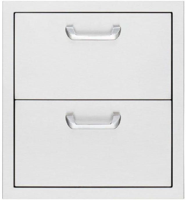 """Lynx® Sedona19"""" Double Drawers-Stainless Steel-LUD519"""