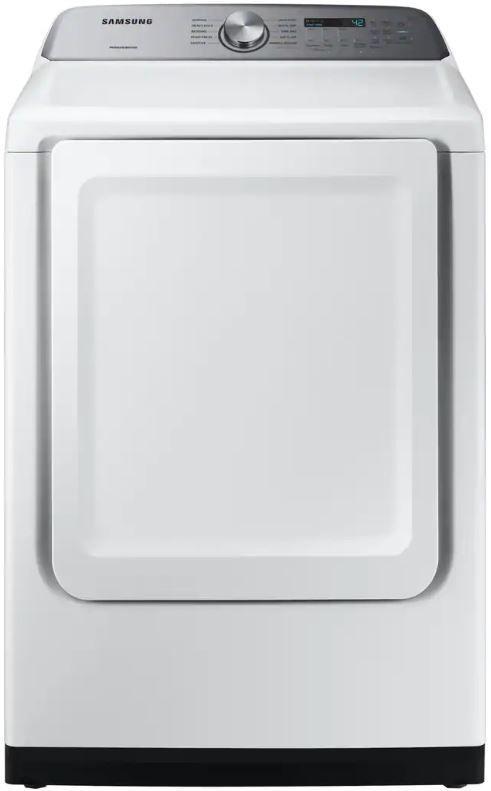 Samsung 7.4 Cu. Ft. White Front Load Electric Dryer-DVE50R5200W