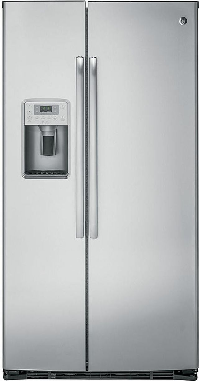 GE Profile™ 21.9 Cu. Ft. Counter-Depth Stainless Steel Side-By-Side Refrigerator-PZS22MYKFS