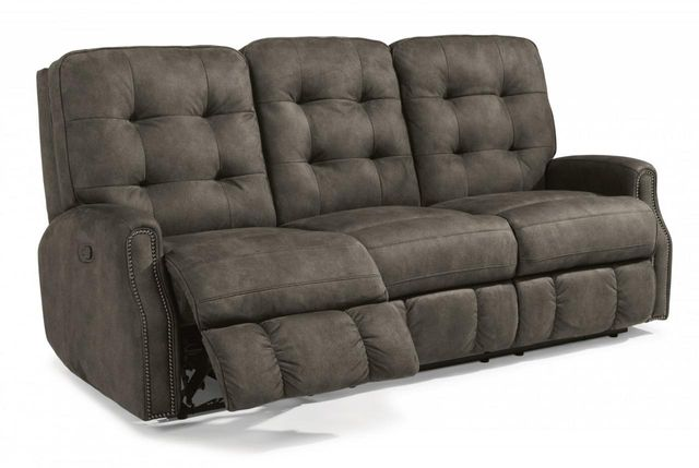 Flexsteel® DevonFabric Power Reclining Sofa withNailheadTrim-2881-62