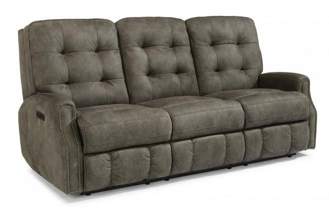 Flexsteel® DevonFabric Power Reclining Sofa withNailheadTrim-2881-62H