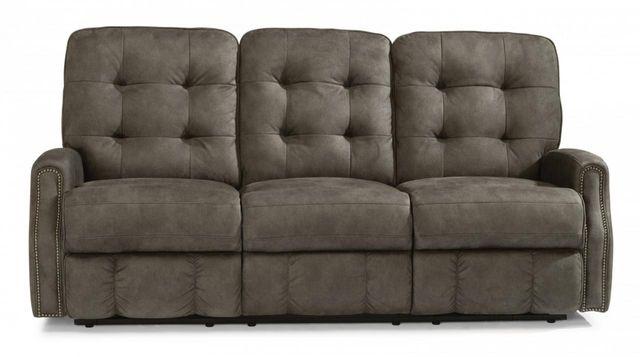Flexsteel® DevonFabric Power Reclining Sofa withNailheadTrim-2881-62M