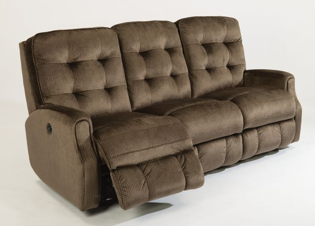 Flexsteel® DevonFabric Power Reclining Sofa withoutNailheadTrim-2882-62M