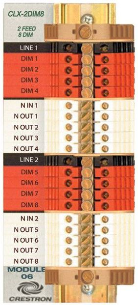 Crestron® Terminal Block-CLTI-2DIM8