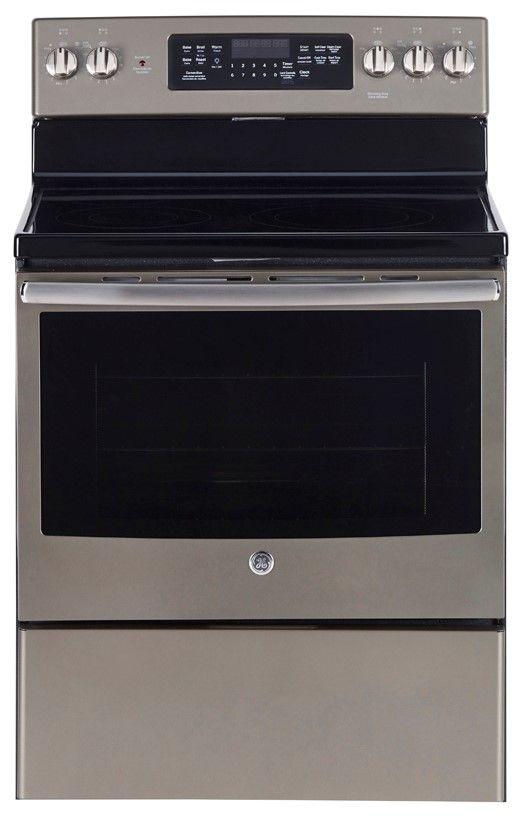 Cuisinière électrique autoportante GE® de 5,0 pi³ de 30 po - Ardoise-JCB840EKES