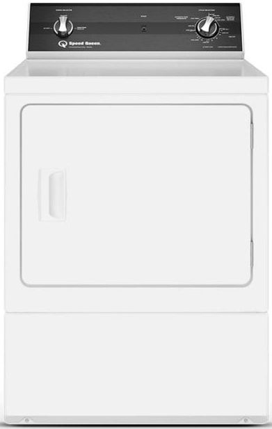 Speed Queen® DR3 7.0 Cu. Ft. White Front Load Electric Dryer-DR3003WE