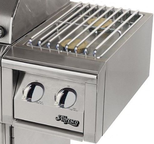 Alfresco™ Dual Side Burner For Cart-Stainless Steel-AXESB-2C-NG