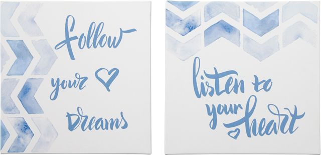Signature Design by Ashley® Ellis Teal/White Wall Art Set-A8000240