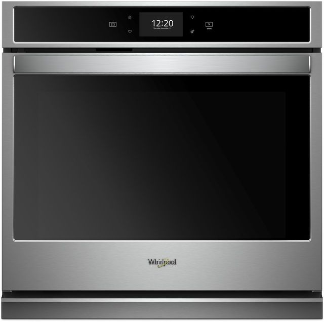 """Whirlpool® 27"""" Electric Single Oven Built In-Black-On-Stainless-WOS72EC7HS"""