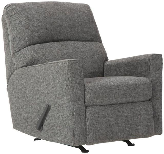 Fauteuil berçant inclinable Dalhart en tissu gris Benchcraft®-8570325