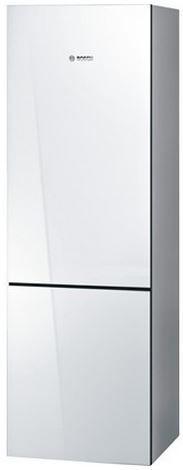 Bosch 800 Series 10.0 Cu. Ft. Counter Depth Bottom Freezer Refrigerator-White Glass-B10CB80NVW