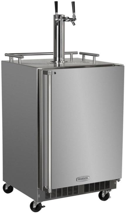 Marvel Outdoor 5.7 Cu. Ft. Stainless Steel Beer Cooler/Kegerator-MO24BTSMRS