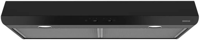 "Broan® Sahale BKSH1 Series 30"" Under Cabinet Range Hood-Black-BKSH130BL"